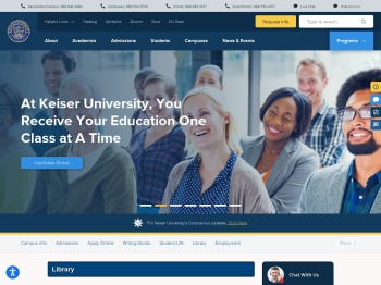 Welcome to Our Library   Keiser University