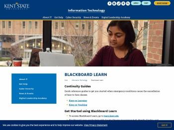 Blackboard Learn | Kent State University