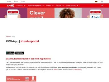 KVB-App | Route planen, Tickets kaufen, KVB-Rad ...