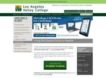 Student Portal: Los Angeles Valley College