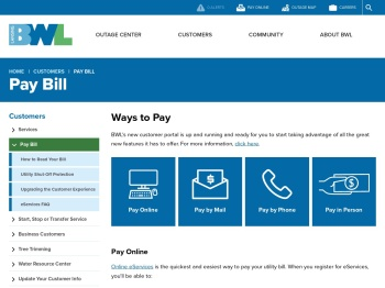 Pay Bill | lbwl.com - Lansing Board of Water and Light