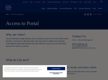 New Portal Landing Page | London Business School