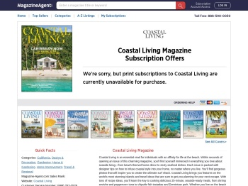 Coastal-Living Customer Service | Magazine-Agent.com