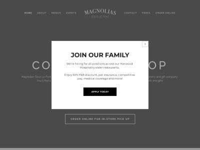 screenshot of Magnolias Sous Le Pont's homepage