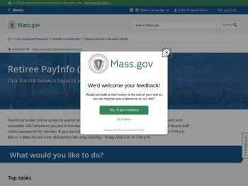 Retiree PayInfo (MSRB) | Mass.gov