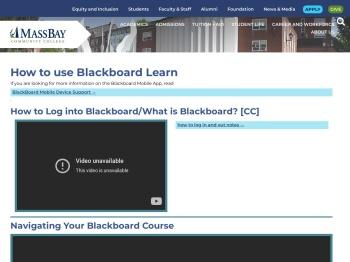 How to use Blackboard Learn - massbay