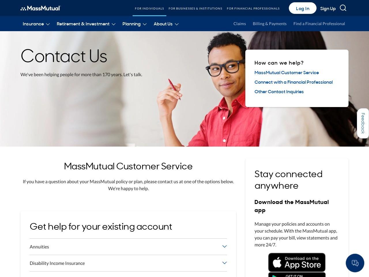 Contact MassMutual Customer Service   MassMutual