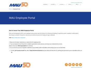 Employee Portal - MAU Workforce Solutions
