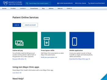 Patient Online Services - Mayo Clinic Health System