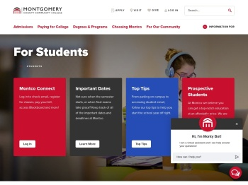 For Students - Montgomery County Community College