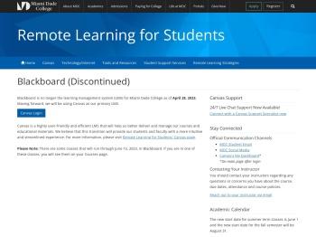 Blackboard | Miami Dade College