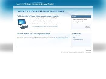 Microsoft Volume Licensing Service Center