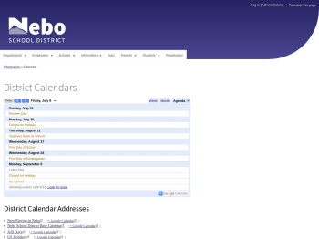 District Calendars | Nebo School District