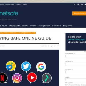 Screenshot of Staying Safe Online Guide