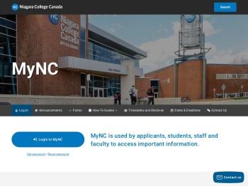 Log In to MyNC   Niagara College