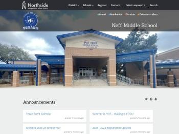 Neff Middle School   Northside Independent School District