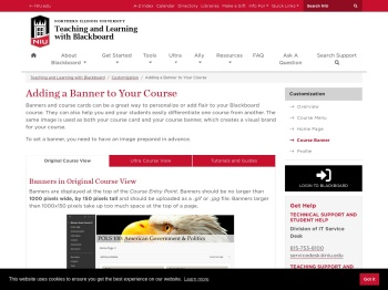 Adding a Banner to Your Blackboard Course