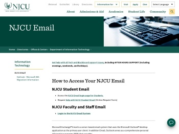 How to Access Your NJCU Email - New Jersey City University