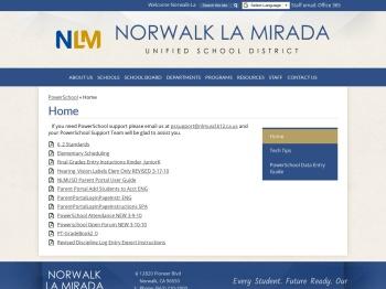 Home – PowerSchool – Norwalk La Mirada Unified School ...
