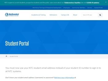 Student Portal   Northcentral Technical College