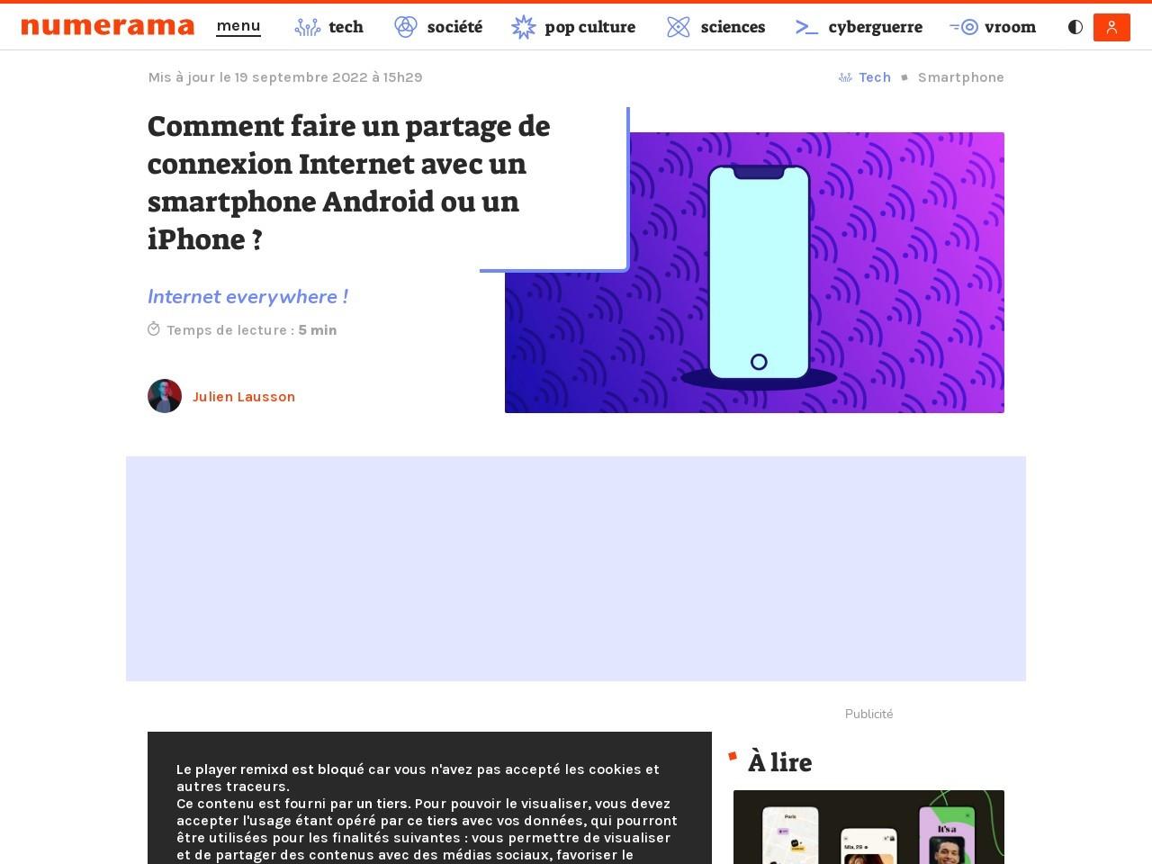 Comment partager la connexion Internet 4G d'un smartphone