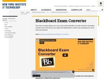 BlackBoard Exam Converter | Center for Teaching & Learning ...