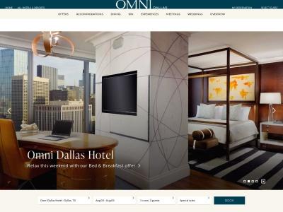 screenshot of Omni Dallas Hotel's homepage