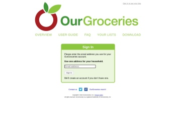 Sign In - OurGroceries