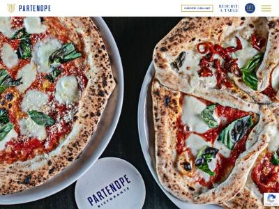 screenshot of Partenope Ristorante's homepage