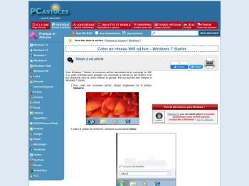 Créer un réseau Wifi ad hoc - Windows 7 Starter - Conseils PC