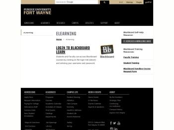 eLearning - Purdue University Fort Wayne