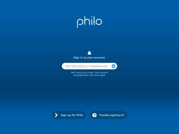 Sign in - Philo