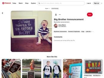 Big brother announcement. - Pinterest