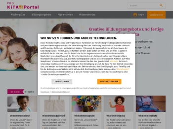 Pro Kita Portal: Startseite
