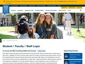 Student Login - Rose State College