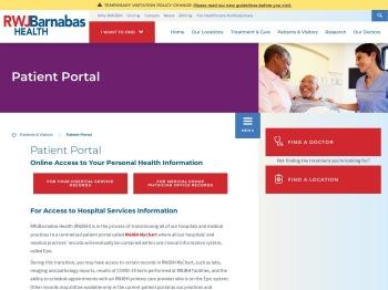 Patient Portal   RWJBarnabas Health