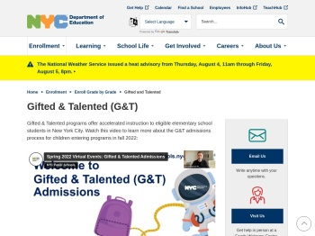Gifted and Talented - New York City Department of Education