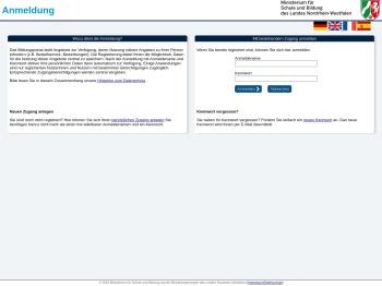 BILDUNGSPORTAL NRW - Anmeldung