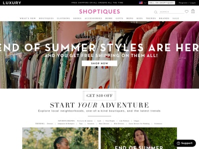 Shoptiques screenshot