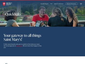 Quicklinks - Saint Mary's University of Minnesota