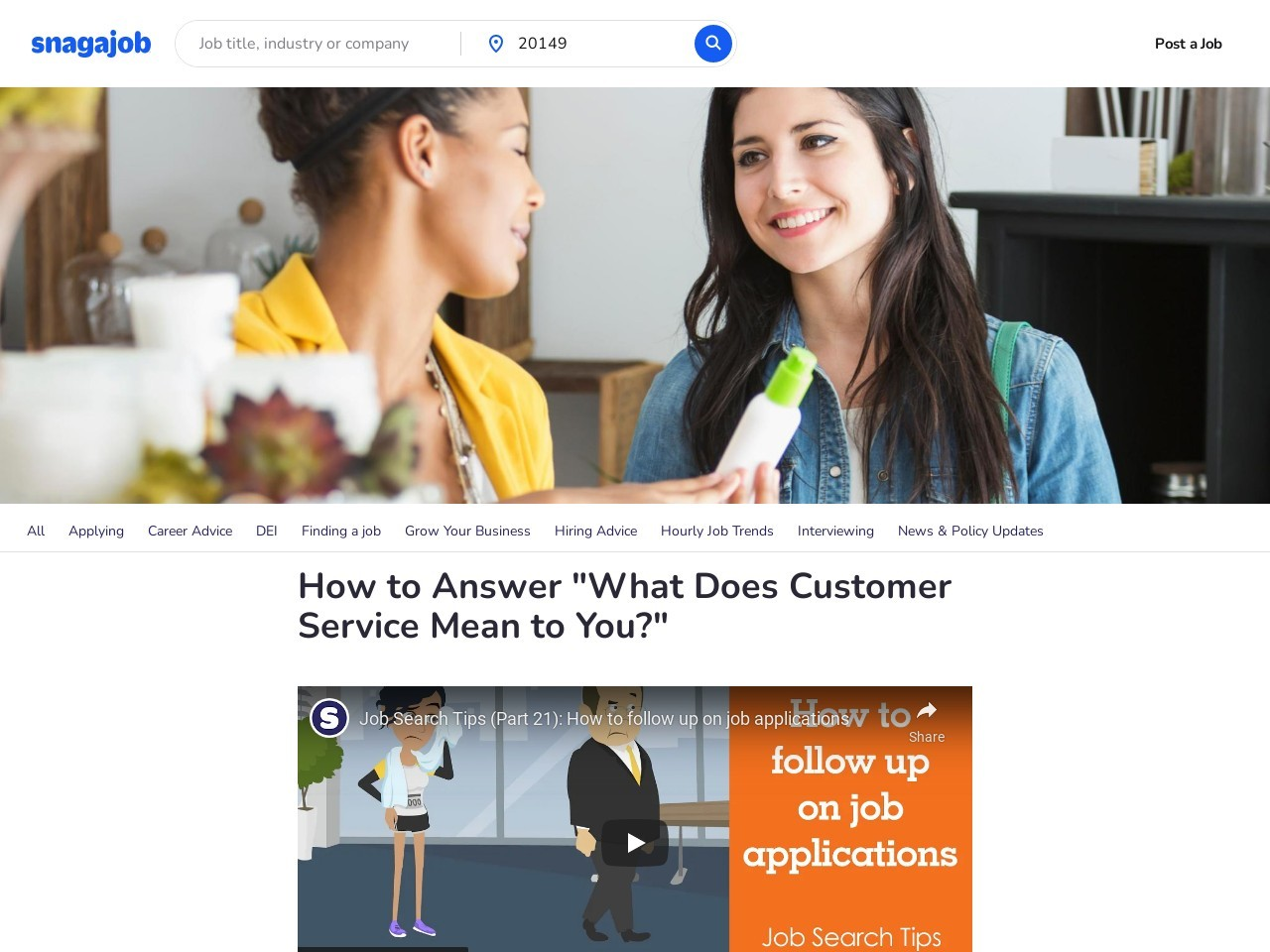"""How to Answer """"What Does Customer Service Mean to You ..."""