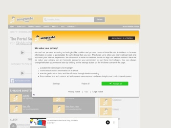 Songtext von SkyMarshall Arts - The Portal Song [Still Alive ...