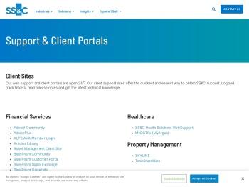 Support & Client Portals - SS&C Technologies