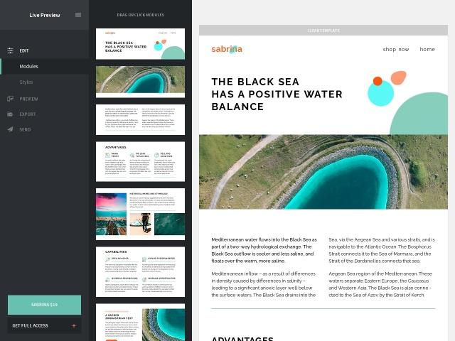 Sabrina – Responsive Email + StampReady Builder & Mailchimp Screenshots