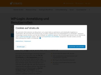 WP-Login: So loggen Sie sich bei WordPress ein | STRATO
