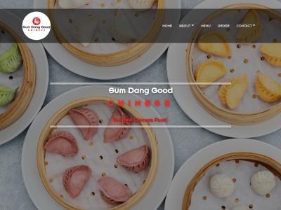 screenshot of Sum Dang Good Chinese's homepage