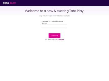 Log in to manage your Tata Sky Account | Tata Sky