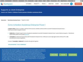 Supporto ai clienti TeamSystem Enterprise Power-I ...