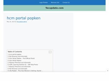 Hcm Portal Popken - TECUPDATE