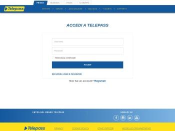 ACCEDI A TELEPASS - Telepass.com